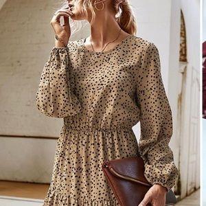 Animal Print Long Sleeve Dress